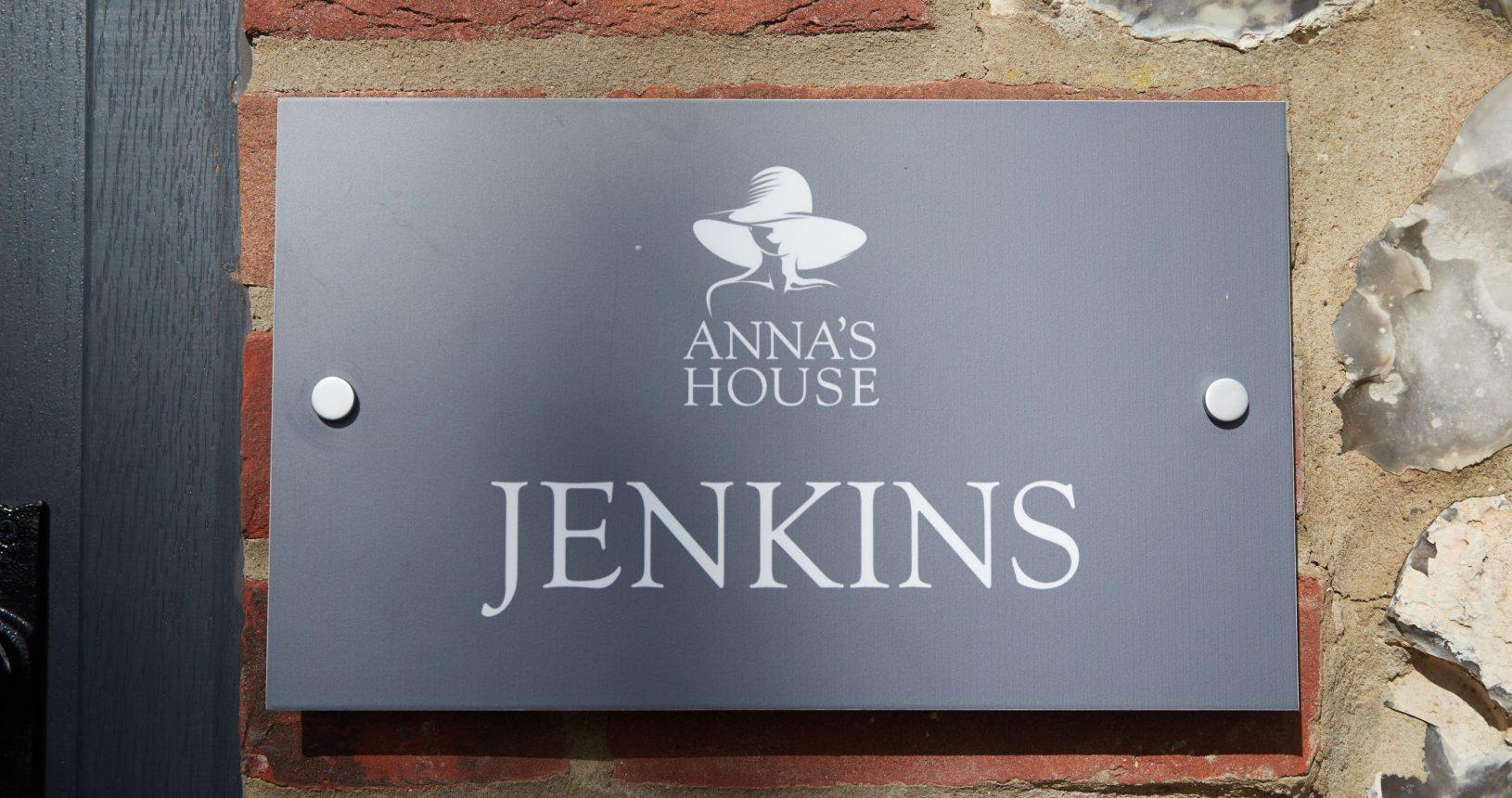 Jenkins sign at Annas Norfolk Hotel