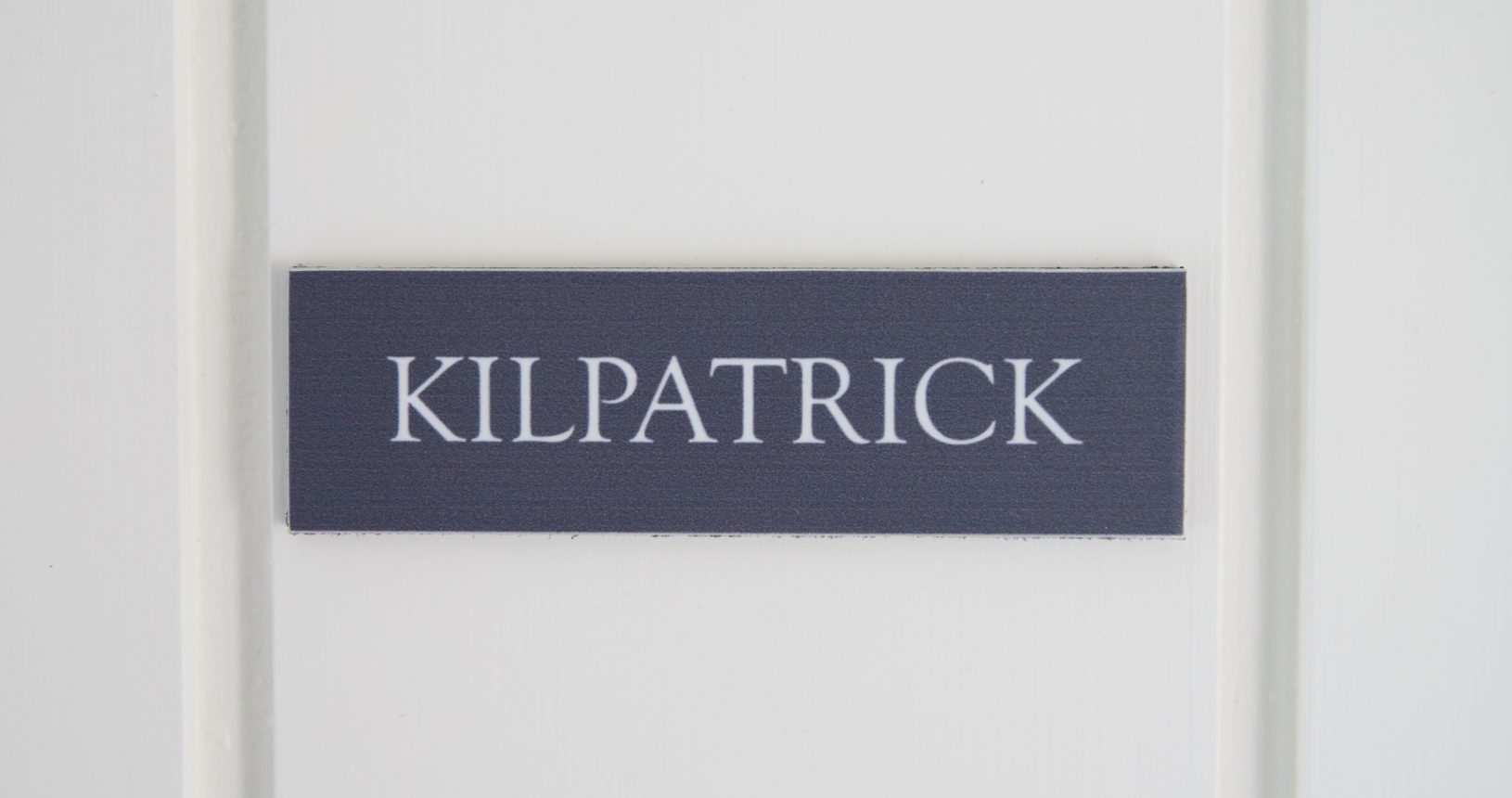 Kilpatrick sign at Annas House Hotel Norfolk coast