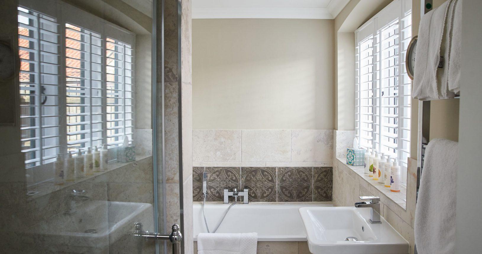 Hotel bathroom at Anna's House Thornham