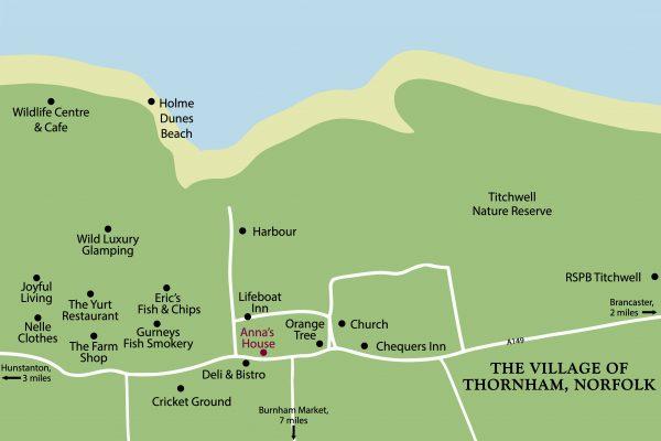 Thornham Norfolk Map