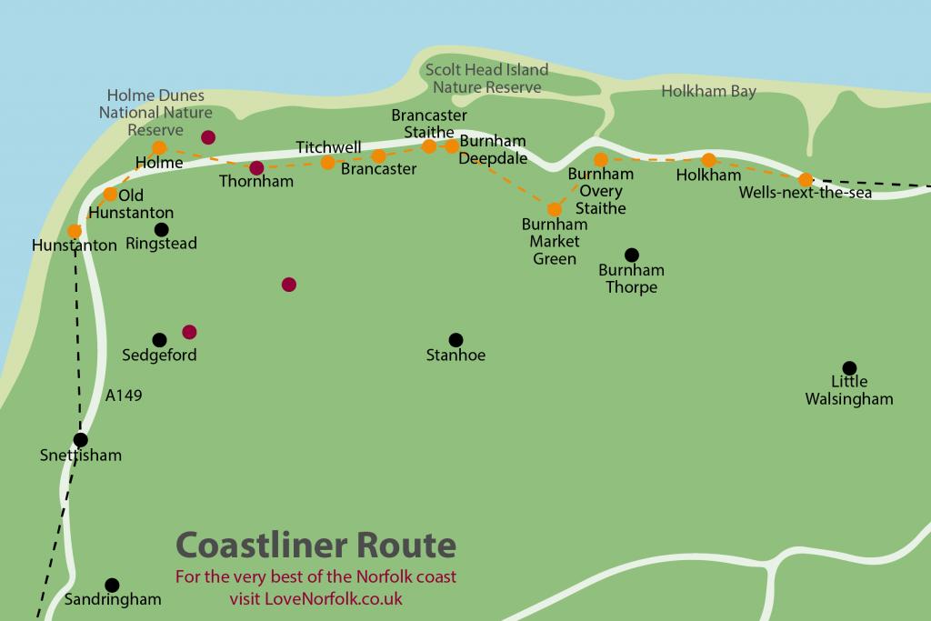 lovenorfolk.co.uk Norfolk Coast Bus map 2020